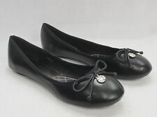 SALE SPOT ON LADIES BALLERINA/DOLLY SHOES 'F80014' BLACK