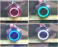 Water and Vandal Resistant LED Illuminated Push Button Switch SPST IP66
