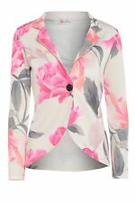 New Ladies Single Button Long Sleeve Floral Blazer 8-14