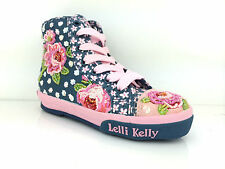 Lelli kelly Blue Fantasy LK 4210 (BE02) Patchwork Mid Baseball Boots + Free Gift