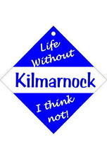 Kilmarnock Car signs / Personalised signs / flexible magnets / transfers