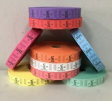 Roll of Clown Tickets Single 8 Colors Raffle School Fun Fair Carnival Smile Face