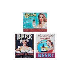 Beer Retro Vintage Metal Tin Wall Plaque Shabby Chic Novelty Gift