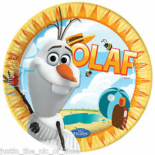 Disney FROZEN OLAF SUMMER 23cm Plates Girls Party Supplies Tableware Job Lots