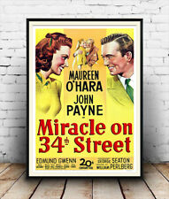 Miracle on 34th Street :  Vintage Movie Advertising  Poster reproduction