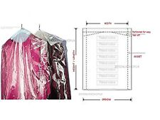 CLEAR POLYTHENE GARMENT COVERS FILM DRY CLEANERS TRAVEL BAGS CLOTHES  PERFORATED