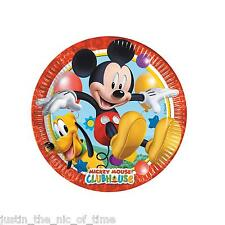 Disney MICKEY MOUSE CLUBHOUSE  19.5cm Paper PLATES Boys Party Supplies Job Lot
