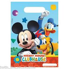 Disney MICKEY MOUSE CLUBHOUSE Party LOOT BAGS Boys Job Lot Plastic Gift Bags