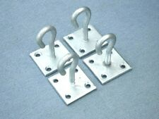 Pack of 4 Lashing Hook on Plate/Chain (Staple Plate/Tie Down)