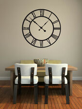 ROMAN NUMERAL WALL ART CLOCK - Wall Art Decorative Sticker - Contemporary Look