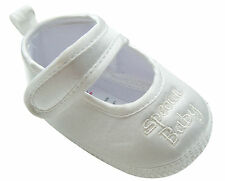 MABINI® Baby Satin Christening Special Occasion Shoes Infant Booties White Cream