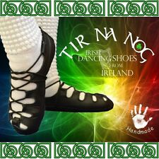 Tir Na Nog Soft Real Leather Irish Dancing Shoes Pomps Pumps Ghillies Reel Jig