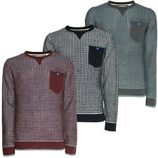 New Soul Star Mens Slim Fit Crew Neck Jumper Knitted Fashion Winter Pullover
