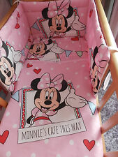 NEW MINNIE MOUSE - SPACE SAVER COT/COT OR COT BED BEDDING SET AND MORE