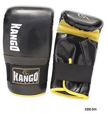 KANGO BOXING GLOVES MESH MITTS LEATHER SPARRING MMA GRAPPLING MUAY THAI PUNCH
