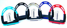 AMIDALE FLEXI STIRRUPS HORSE RIDING BENDY IRONS S/S 5 COLORS 3 SIZES BNWT