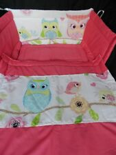 NEW CUTE OWLS AND BIRDS CRIB COT SPACE SAVER OR COTBED  SET
