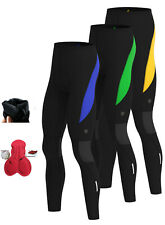 Mens Cycling Thermal Tight pants Winter Cold Wear Padded Legging Cycling Trouser