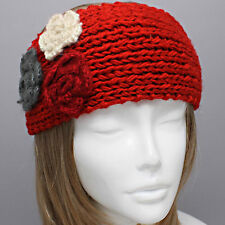 Womens Flower Headwrap/ Earmuff Polyester Knitted Bandana