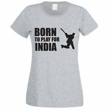 BORN TO PLAY FOR INDIA - Indian / Sport / Funny / Novelty Themed Womens T-Shirt