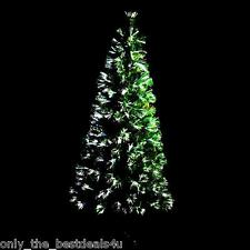 Green Fibre Optic LED Artificial Indoor Christmas Tree 2ft 3ft 4ft 5ft or 6ft