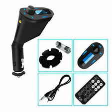 CAR WIRELESS FM TRANSMITTER MP3 USB SD CARD SLOT REMOTE FITS SMART PHONES - BLUE