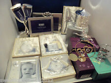 Silver/Gold Plate, Photo Frames, Christening, Wedding, Baby, Swarovski Crystals