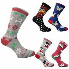 New Womens Funky Santa Reindeer Christmas Tree Socks X Mass Fits Uk 4-8,Eu 37-42