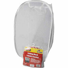 LAUNDRY BAG FOLDABLE POP UP MESH BASKET WASHING LAUNDRY BAG STORAGE TOYS CLOTHES