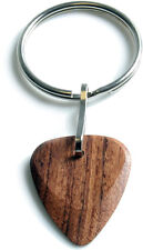 Timber Tones Wood Guitar Pick / Plectrum Key Ring - Choice Of 18 Exotic Woods