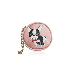 Girl Mini Small Anna Smith Designer Coin Purse Cartoon Cute Puppy Pug Dog Design