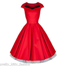 ROCKABILLY KITTY CARINO Anni 50 VINTAGE ROSSO NERO COCKTAIL SWING