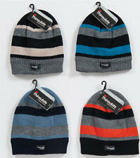 KIDS BOYS HAT THINSULATE STRIPED - ADULT WINTER BEANIE HAT - ONE SIZE FITS ALL