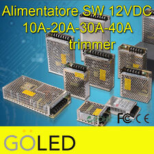 Alimentatore Switching 12V DC 10A-20A-30A-40A Industrial TRIMMER