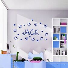 Personalised Football Wall Stickers Nursery Room Decor Vinyl Decal Removable