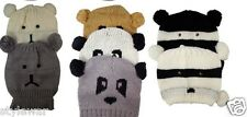 New Animal Face Bear Panda Beanie Unisex Hat Knitted Racoon Bear Panda Hats