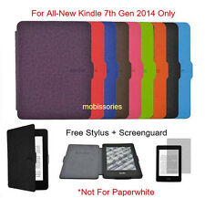 "Ultra Slim Magnetic Flip Case Cover for All-New-Kindle 6"" Glare Free 7 Gen 2014"