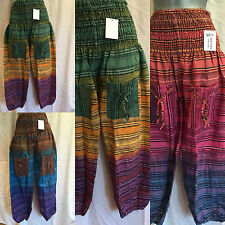 New  Aladdin Boho Hippy Tie Die Seersucker Baggy Harem Pants Trousers Jumpsuit