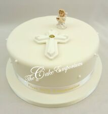 1st First Holy Communion Kneeling Girl / Boy Cake Toppers, Cross and Ribbon Set