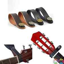 PU Leather Strap Hook for Acoustic Electric Guitar Headstock Tie