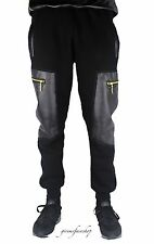 "Time is Money G bar joggers ""club-star"" PU hip hop tracksuit bottoms, mens & lad"