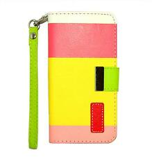 New Apple iPhone 6 4.7 Leather Flip Designer Stripe Wallet Case Table Talk