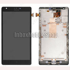 Black LCD Display Touch Screen Digitizer Assembly with Frame Nokia Lumia 1520