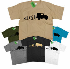 Mens Evolution of Ape to Land Rover Series 1 T Shirt ~ Retro Off Road Landrover