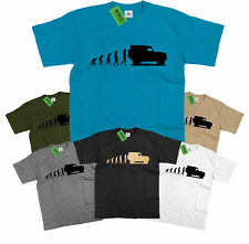 Mens Evolution of Ape to Land Rover Defender 90 T Shirt Off Road Landrover
