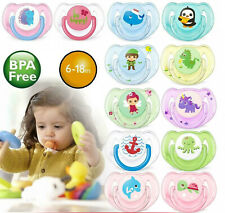 2pc ORTHODONTIC AVENT SOOTHER BABY DYNAMIC PACIFIER DUMMY TEAT SAFE COLOURFUL