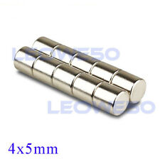10/25/50/100 X Strong Round Cylinder Magnet 4x5mm Rare Earth Neodymium N709