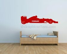 Ferrari F1 Racing Car Wall Art Sticker, Formula 1 Vinyl Graphic Decal