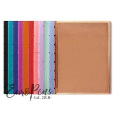 """Filofax A5 Size Refillable """"Leather-Look"""" Ruled Notebook - Choose colour"""