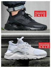 BNIB New Men Nike Air Huarache Run Ultra BR Trainer Triple Black White 9 10 11uk